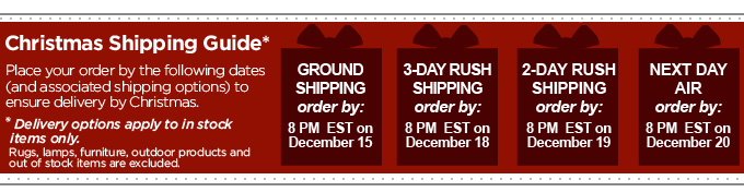 Christmas Shipping Guide