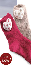 Buy the Socks with Heart Applique