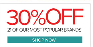 30% Off Popular Brands