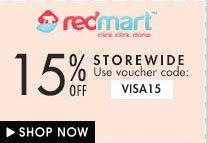15% off storewide Redmart