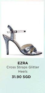 EZRA Cross Straps Glitter Heels