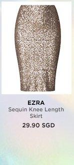 EZRA Sequin Knee Length Skirt