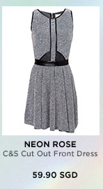 NEON ROSE C&S Cut Out Front Dress