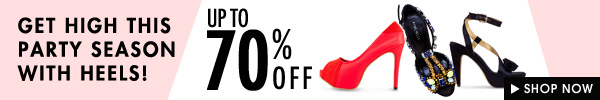 Heels at up to 70% off