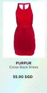 PURPUR Cross Back Dress