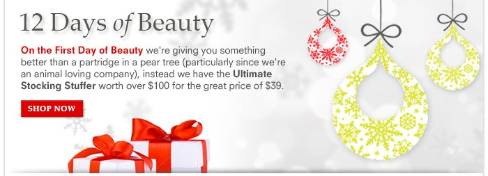 12 Days of Beauty - On the First Day of Beauty...