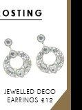 Jewelled Circle Deco Earrings