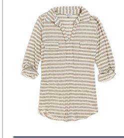 Striped Drapey Lux Famous Shirt