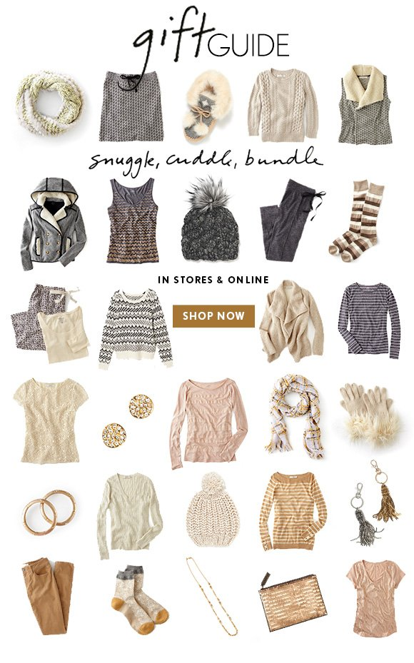 gift GUIDE snuggle, cuddle, bundle  IN STORES & ONLINE  SHOP NOW