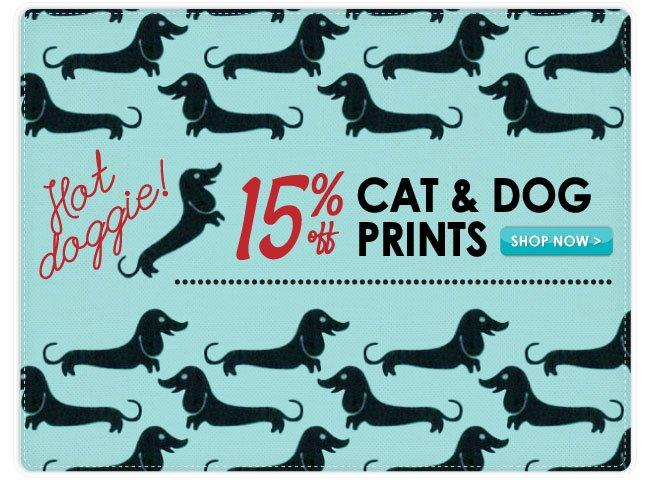 15% Off Cat and Dog Cotton Print Fabrics