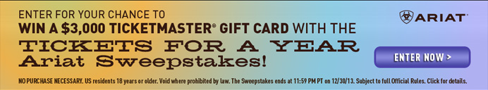 Win Tickets for a Year Sweepstakes