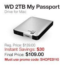 WD 2TB My Passport Drive for Mac
