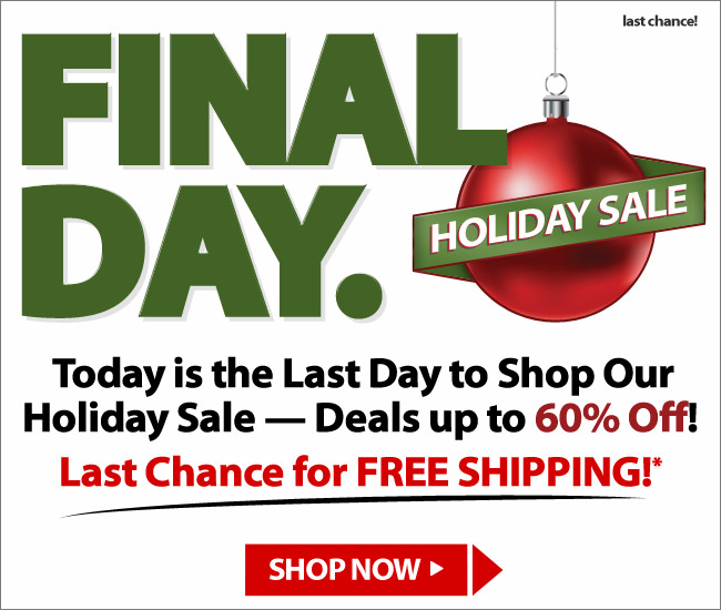 Final Day of the Holiday Sale Shop Now
