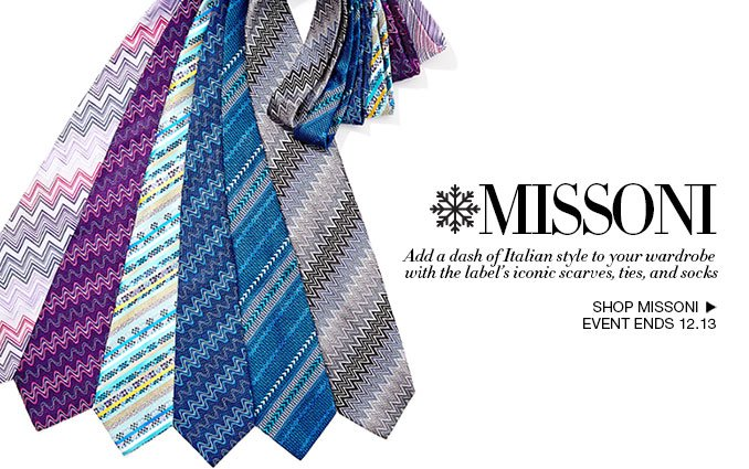 Shop Missoni Scarves, Ties and Socks For Men