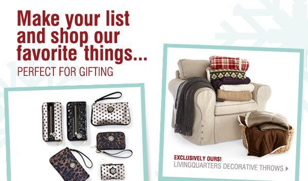 Make your list and shop our favorite things, perfect for gifting  LivingQuarters decorative throws