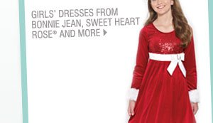 Girls' dresses from Bonnie Jean, Sweet Heart Rose® and more