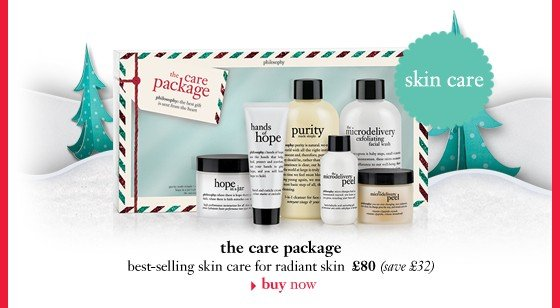 skin care the care package best-selling skin care for radiant skin £80 (save £32)