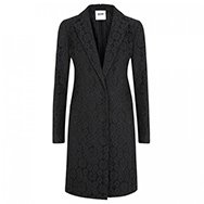 MOSCHINO CHEAP AND CHIC - Floral lace cotton blend coat