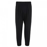 HELMUT LANG - Cropped brushed crepe trousers