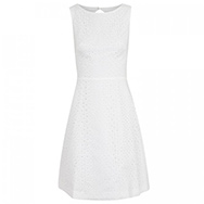 ISSA - Broderie anglaise cotton dress