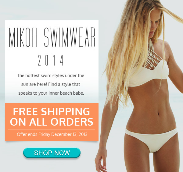 Free Shipping Through Friday - MIKOH Swimwear is here!