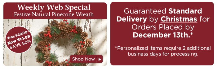 Weekly Web Special & Standard Shipping