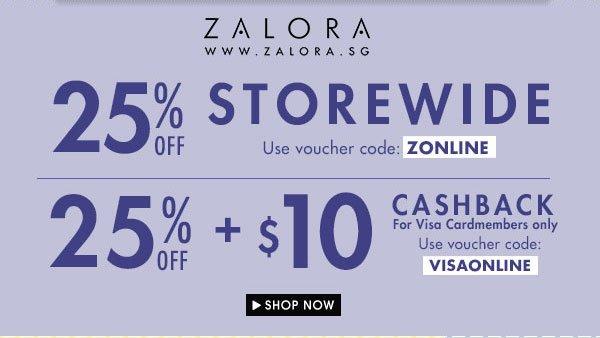 Up to 25% off storewide VISA