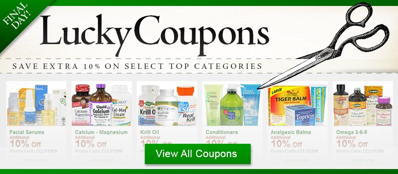LuckyCoupons Top Selling Categories