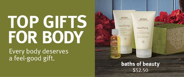 top gifts  for body. every body deserves a feel-good gift.