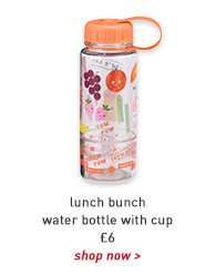 lunch bunch water bottle with cup