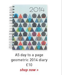 a5 day to a page geometric 2014 diary