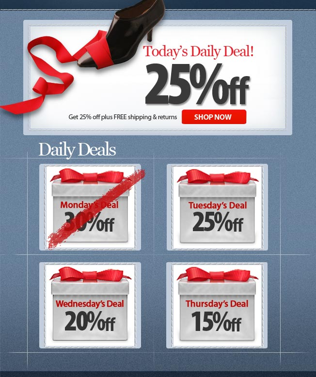 25% off! Today's Daily Deal!