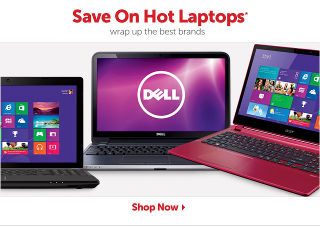 Hot laptops for the holidays* - wrap up savings on the best brands - Shop Now