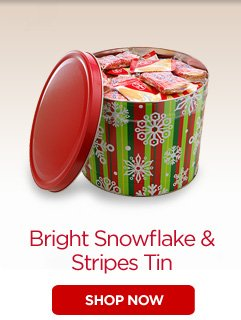 Bright Snowflake & Stripes Tin