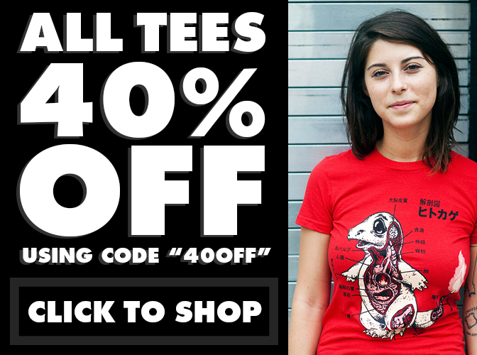 All Tees 40% Off - CLICK TO SHOP