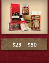 Gifts between $25 and $50