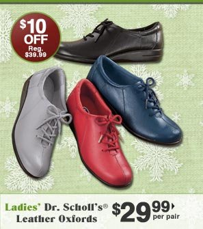 Ladies' Dr. Scholl's Leather Oxfords