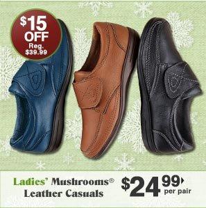 Ladies' Mushrooms Leather Casuals