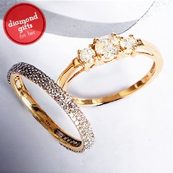 Diamond Earrings & Rings under $599