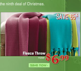 Fleece Throw, item #614099, now $6.99