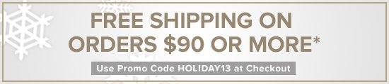 FREE Shipping On Orders Over $90.