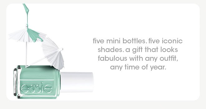 five mini bottles. five iconic shades. a gift that looks fabulous with any outfit any time of year.