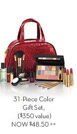 31-Piece Color Gift Set, ($350 value) NOW $48.50.