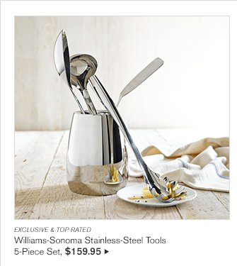 EXCLUSIVE & TOP-RATED - Williams-Sonoma Stainless-Steel Tools 5-Piece Set, $159.95