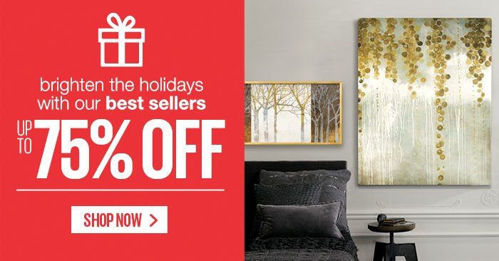 Brighten the holidays with our best sellers - Up to 75% Off - Night and Day By: Kathrine Lovell; Gold Swirls By: Lisa Kowalski