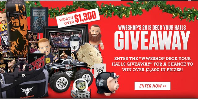 WWEShop Deck Your Halls Giveaway – Enter for a chance to win over $1,300 in prizes!