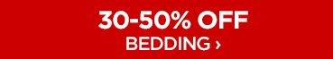 30-50% OFF BEDDING ›