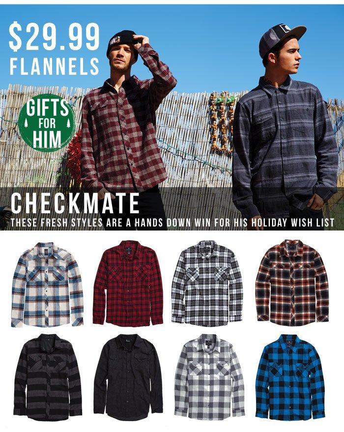 $29.99 Men's Flannels