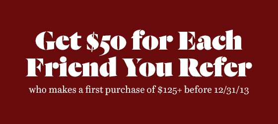 $50 for every friend you refer