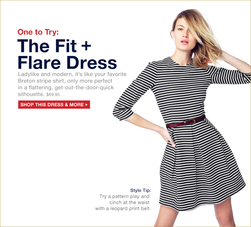 One to Try: The Fit + Flare Dress | SHOP THIS DRESS & MORE
